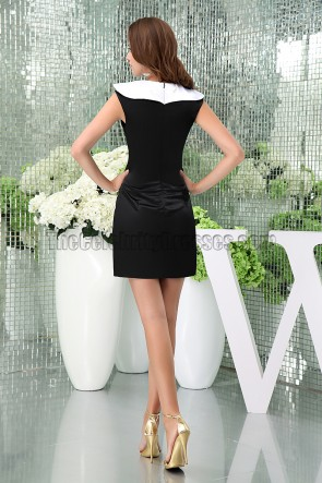 Short White And Black Party Graduation Homecoming Dresses