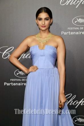 Sonam Kapoor Lavendel Abend Abendkleid Chopard Backstage Partei Kleider