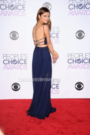 Stefanie Scott Marineblau Zweiteiliges Abendfestkleid 2016 People's Choice Awards