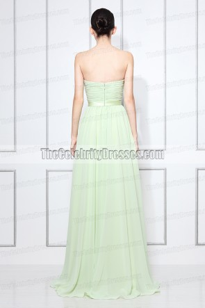 Discount Strapless Celebrity Prom Bridesmaid Dress Evening Gown TS3219