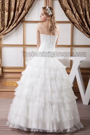 Stunning Strapless Beaded Ball Gown Wedding Dresses
