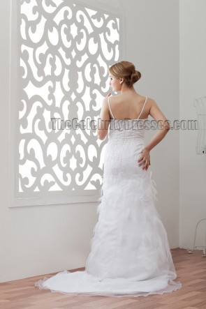 Sweep/Brush Train Spaghetti Straps Sequins Wedding Dresses