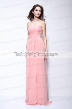 Rhea Durham trägerlosen Abschlussball-Brautjunfer-Kleid 2011 goldene Globen