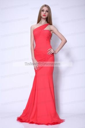 Sofia Vergara ein Schulter Prom Abendkleid 2011 Emmy Awards
