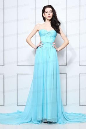 Vanessa Hudgens reizvolles blaues trägerloses Abschlussball-Kleid-Abend-Kleid