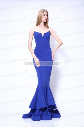 Rocsi Diaz Königsblaues formales Kleid 2013 Emmy Awards Roter Teppich