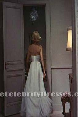 Grace Kelly weißen Prom Kleid einen Dieb fangen Prominente in Filme Kleider