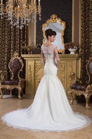 Trompete / Meerjungfrau Perlen bestickt Brautkleid