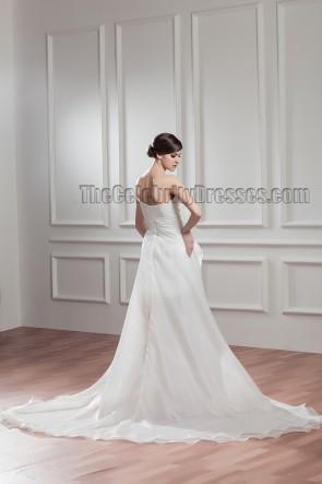 Neu ! Watteau Zug ein Schulter Brautkleid