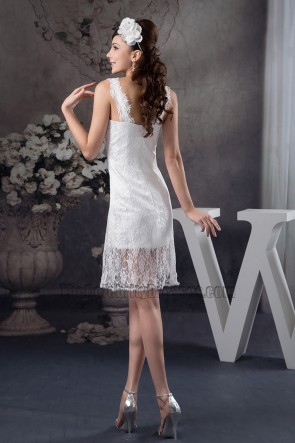 Gorgeous White Lace Short Party Homecoming Dresses