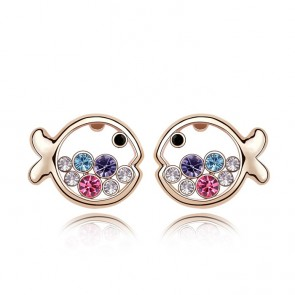 Women's Accessories Austrain Crystal Fish Princess Stud Earrings TCDE0076