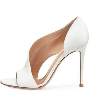 Women's PU  Peep Toe Cut Out Stiletto Heels For Prom