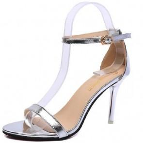 Women's PU Stiletto Heel Sandals Open-toe With Buckle Shoes