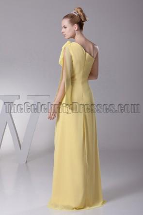 Gelbe Schulter Ballkleid Abendkleid