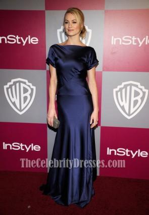 Yvonne Strahovski Dark Navy Prom Dress Golden Globes Gala Red Carpet Dresses
