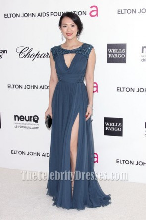 Zhang Ziyi Evening Dress Prom Gown Oscars 2012 viewing party