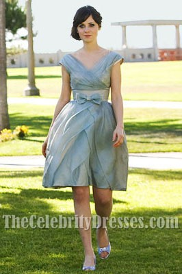 Zooey Deschanel Short Wedding dress In film 500 Days of Summer