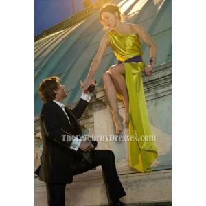 Rebecca Ferguson Sexy Ein Schulter Abendkleid in Mission Impossible 5 TCD6183