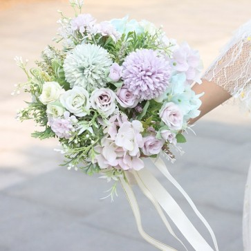 Multi-Colored Free-Form Bridal Bouquets