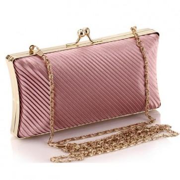 Women Fashion Ruffles Silk Satin Bag Evening Handbag Formal Party Purse 6