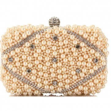 Ladies Fashion Handmade Pearl Bags Mini Party Handbags Clutch Bag 6