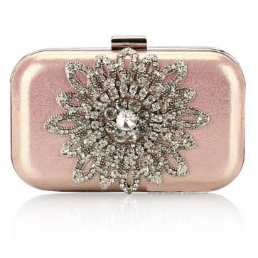 Lady's Elegant Diamond Evening Bag Sunflower Rhinestone Mini Handbag Purse