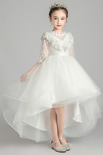Asymmetrical Princess Junior Bridesmaid Dress