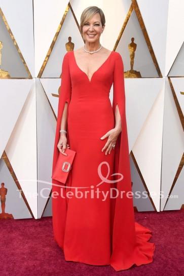 Allison Janney Robe de Soirée Rouge Robe Oscars 2018 Tapis Rouge