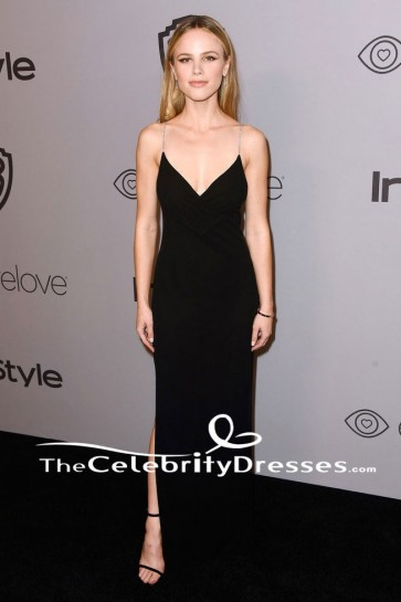 Halston Sage Robe de soirée sexy HBO's Golden Globe Awards Robe d'après-party