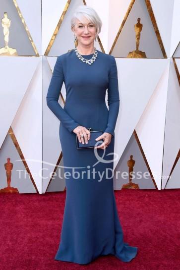 Helen Mirren robe à manches longues formelles 2018 Oscars tapis rouge robe de soirée
