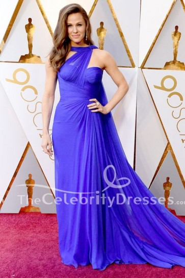 Jennifer Garner 2018 Oscars tapis rouge Royal Blue robe de soirée