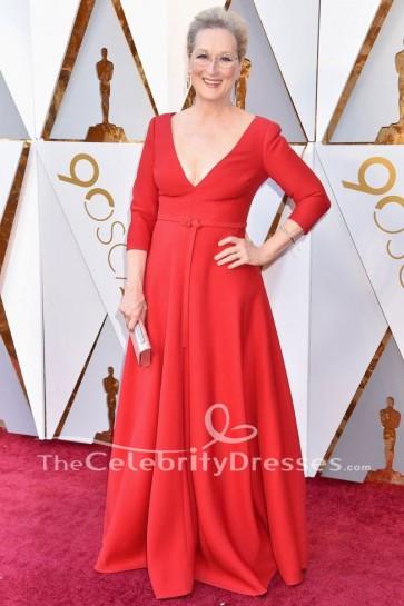 Meryl Streep 2018 Oscars tapis rouge robe de soirée formelle robe