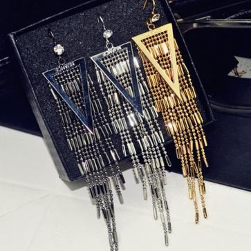 Women's Fashion Casual Elegant Tassel Long Earrings TCDE005