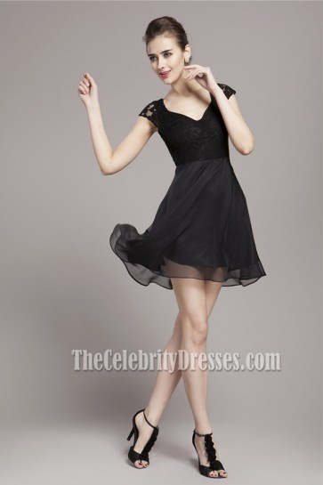 Celebrity Inspired Little Black Party Homecoming Dress