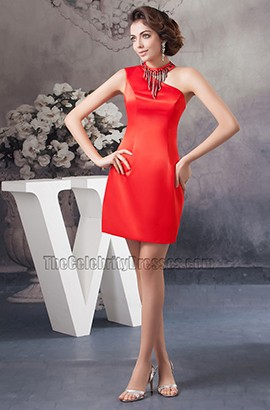 Chic Red Cut Out Short Party Graduation Homecoming Dresses