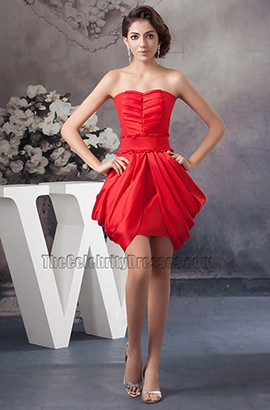 Chic Strapless Short Red Party Cocktail Homecoming Dress