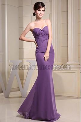 Elegant Strapless Sweetheart Mermaid Evening Dress Prom Dresses