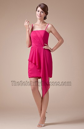 Fuchsia Chiffon Short Mini Cocktail Party Homecoming Dresses