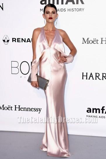 Georgia Fowler Robe de Soirée Sexy 23ème Gala du Cinéma contre le SIDA de l'amfAR