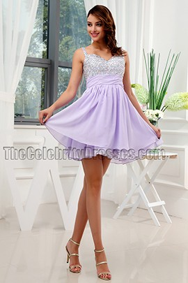 Gorgeous Lilac Sequined Homecoming Dress Party Dresses