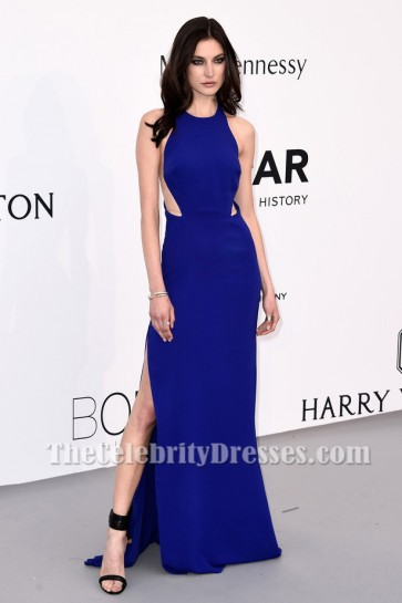 Jacquelyn Jablonski Robe bleu royal formelle 22e Gala du cinéma contre le sida amfAR