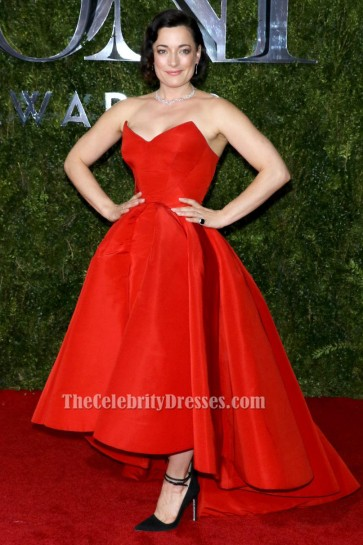 Laura Michelle Kelly Robe rouge formelle Tapis rouge Tony Awards 2015