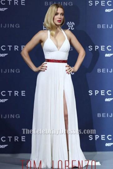 Lea Seydoux sexy Halter Robe de soirée Halter 'Specter' Beijing Premiere