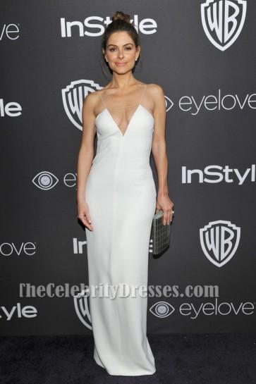 Robe de soirée blanche sexy de Maria Menounos 73e édition annuelle des Golden Globe Awards
