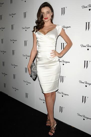 Miranda Kerr Robe de soirée courte Cocktail Dom Domignon