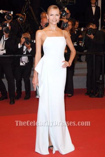 La robe de soirée Natasha Poly White disparaît Premiere 70e Festival annuel de Cannes