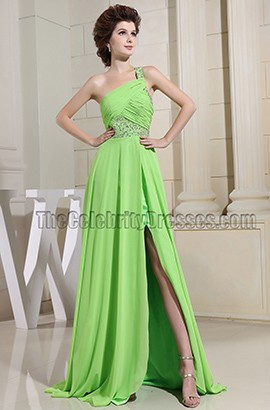 Bud Green Cut Out Beaded Prom Evening Dresses