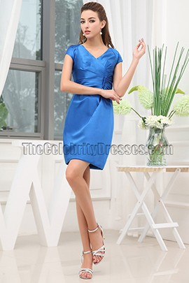 Short Royal Blue Graduation Cocktail Party Dresses
