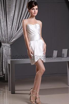Sexy Mini Ivory Cocktail Party Dress Short Wedding Dresses