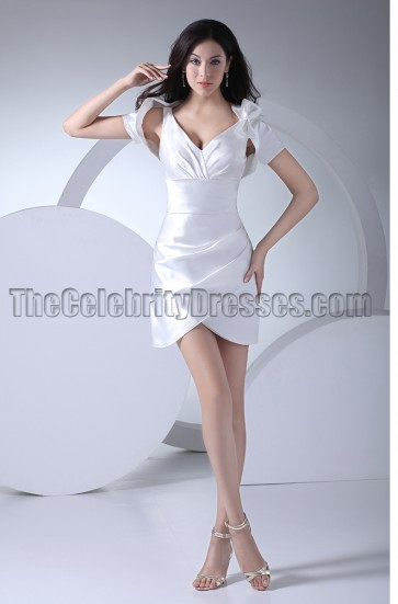 Sexy Mini White Party Cocktail Homecoming Dresses